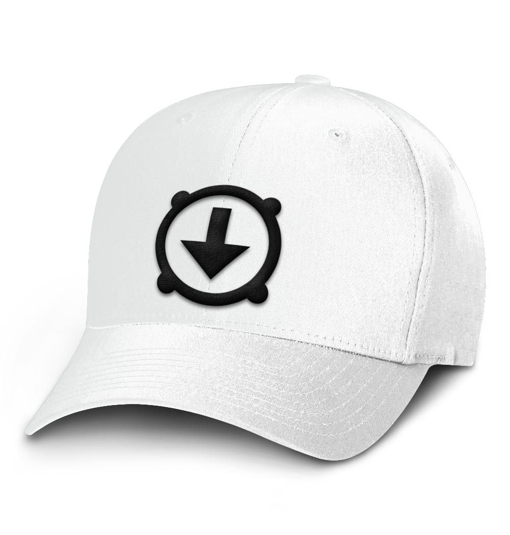 BHD Flexfit Hat – white with black logo