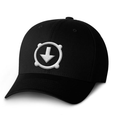 BHD Flexfit Hat – black with white logo