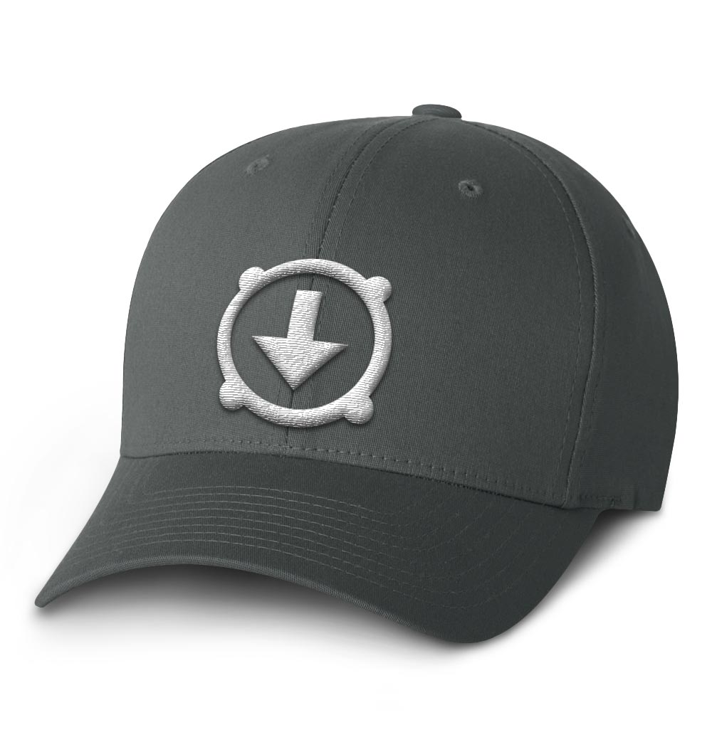 BHD Flexfit Cap — Dark Grey with White Logo