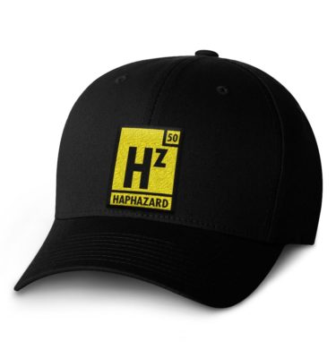 Haphazard Flexfit Cap — Black with Yellow Logo
