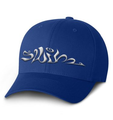 Swim Flexfit Cap — Royal with White Logo